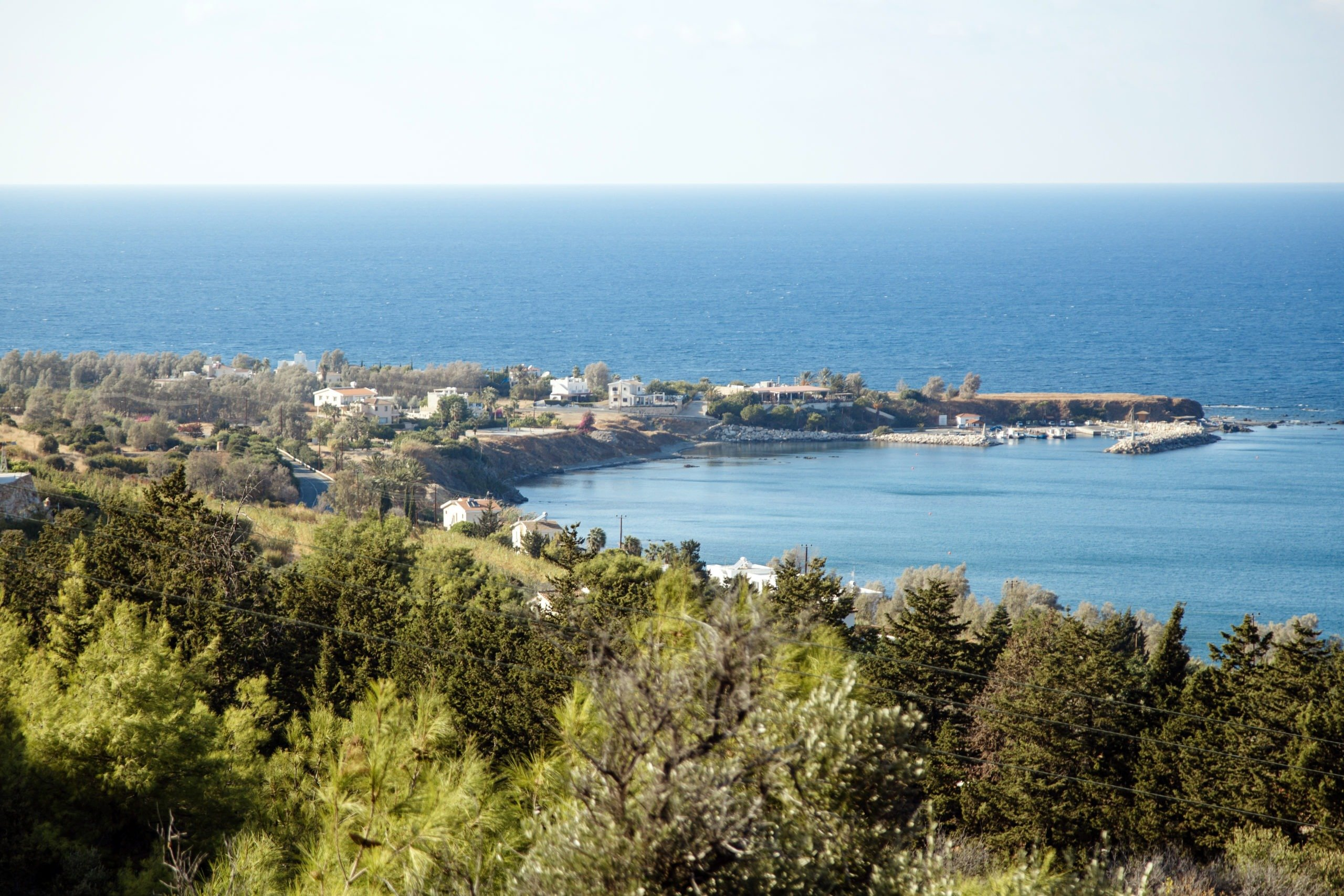 The view to Pomos harbour